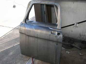4050 strip paint car pickup door