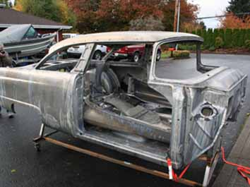 520   Ford Sedan Body 55 Ford chemical dip to stip paint Portland Oregon