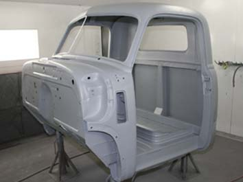 7010 Chevy pickup cab Ecoat  Epoxy after acid dipping