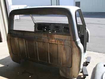 7080 prep pickup cab for acid dipping