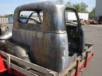 9030 55 Chevy pickup cab chemical dipped